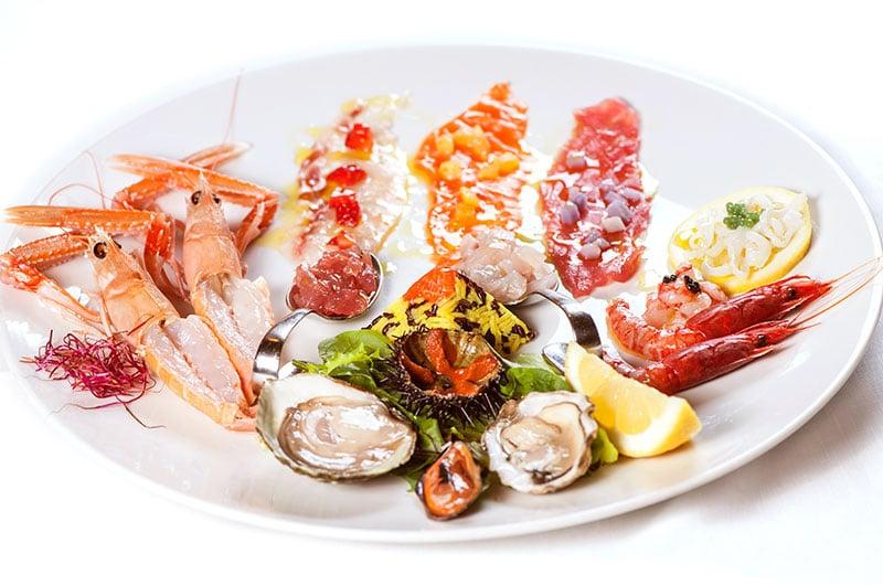 frutti di mare, antipasto, antipasto di mare, ristorante di roma, ristoranti di roma, mangiare a roma, ristorante a roma, ristorante di roma