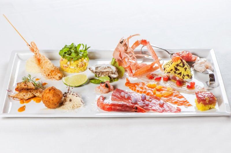 mare crudo e cotto, antipasto di mare, carpaccio, scampi, ristorante di roma, ristoranti di roma, ristorante a roma, ristoranti a Roma, cucina marinara, pesce, frutti di mare, mangiare a roma