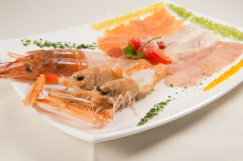 crudo di pesce, ristorate di pesce, cucina marinara, ristoranti di Roma, mangiare a Roma, ristorante di Roma, ristoranti a Roma, ristorante a Roma, antipasto, antipasto di mare