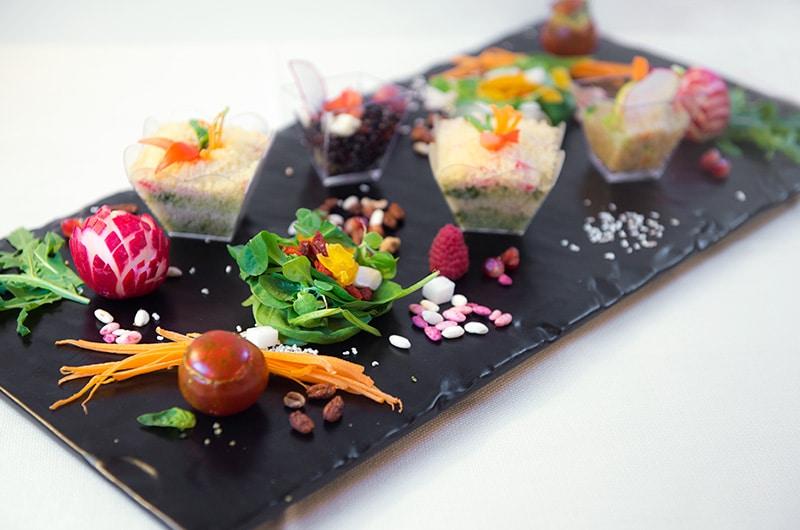 selezione vegana di antipasti, antipasto, vegan, ristoranti di Roma, mangiare a Roma, ristoranti a Roma, ristorante di Roma, ristorante a Roma, verdura, vegetariano, cucina vegetariana