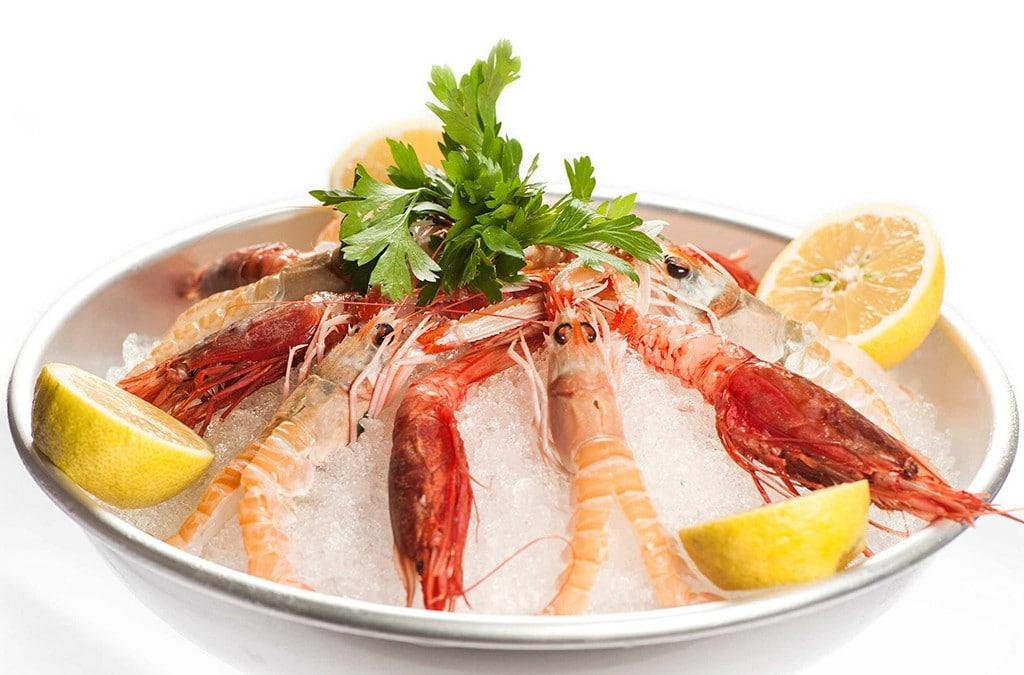 scampi e gamberi rossi, ristorante di Roma, ristoranti a Roma, ristoranti di Roma, ristorante a Roma, mangiare a Roma, cucina di pesce, cucina marinara, antipasto di mare, antipasto di pesce, crostacei, frutti di mare