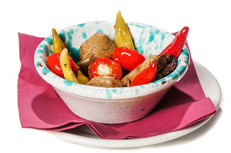 misto verdure sott'olio, misto verdure sott'olio, verdure sottolio, antipasto, ristoranti di roma, mangiare a roma, ristorante a roma