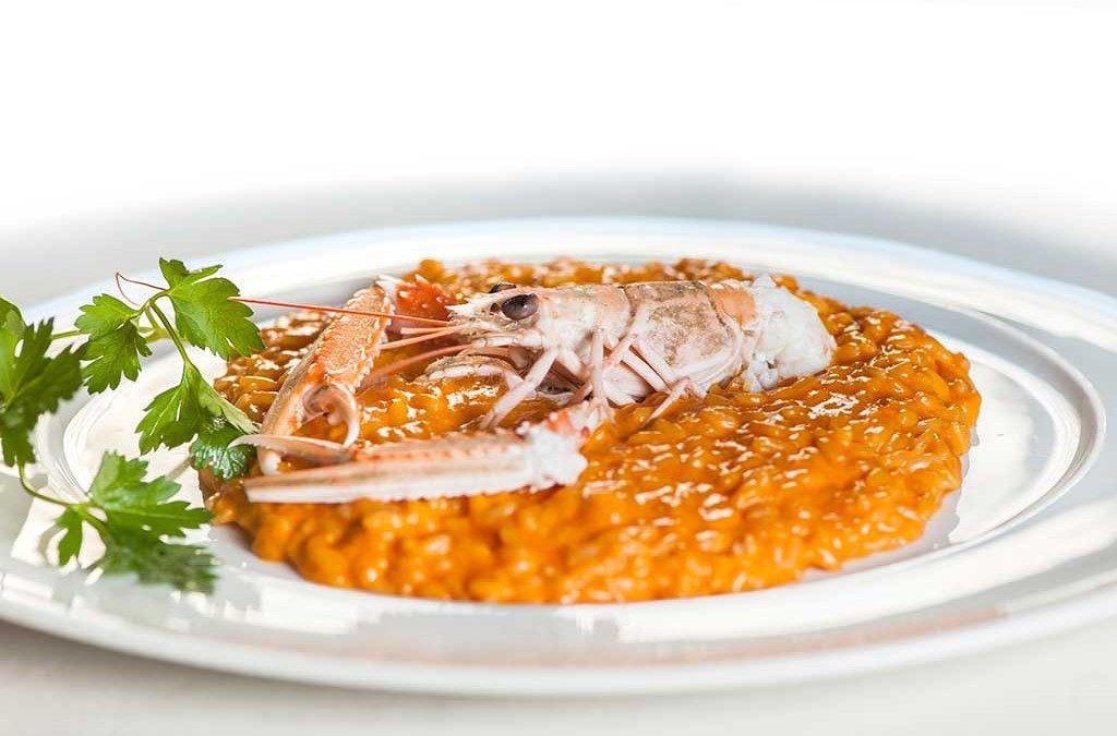 risotto, risotto alla crema di scampi, scampi, ristoranti di roma, mangiare a roma, ristorante a roma, ristoranti a roma, primo piatto, riso, cucina marinara