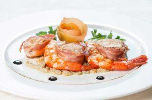 Capesante marinate con porcini e tartufo