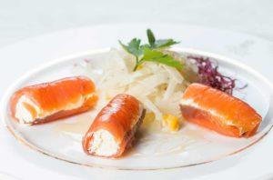 involtini di salmone affumicato, antipasto, roof garden hotel, hotel, ristorante a roma, ristorante di roma, mangiare a roma, ristoranti di roma, ristoranti a roma