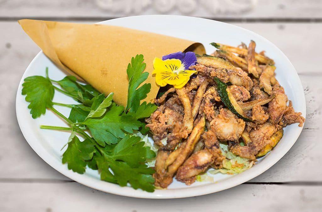 cartoccio di moscardini, antipasto, fritto, ristoranti di Roma, mangiare a Roma, ristoranti a Roma, ristorante a Roma, ristorante di roma