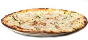 Pizza guanciale e zucchine